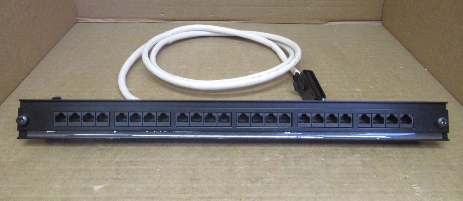 3 Meter 25 Pair Cat 3 Telco Amphenol Cable With 24 Port