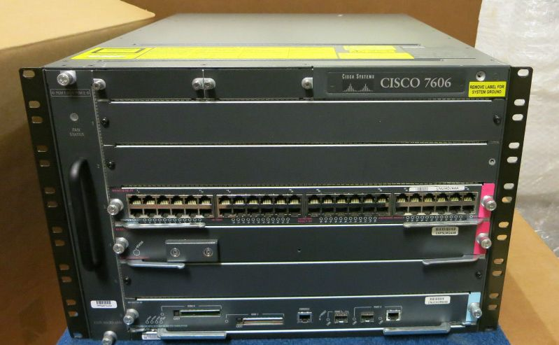 Cisco 7606 6 Slot 7u Rack Mount Multiprotocol High