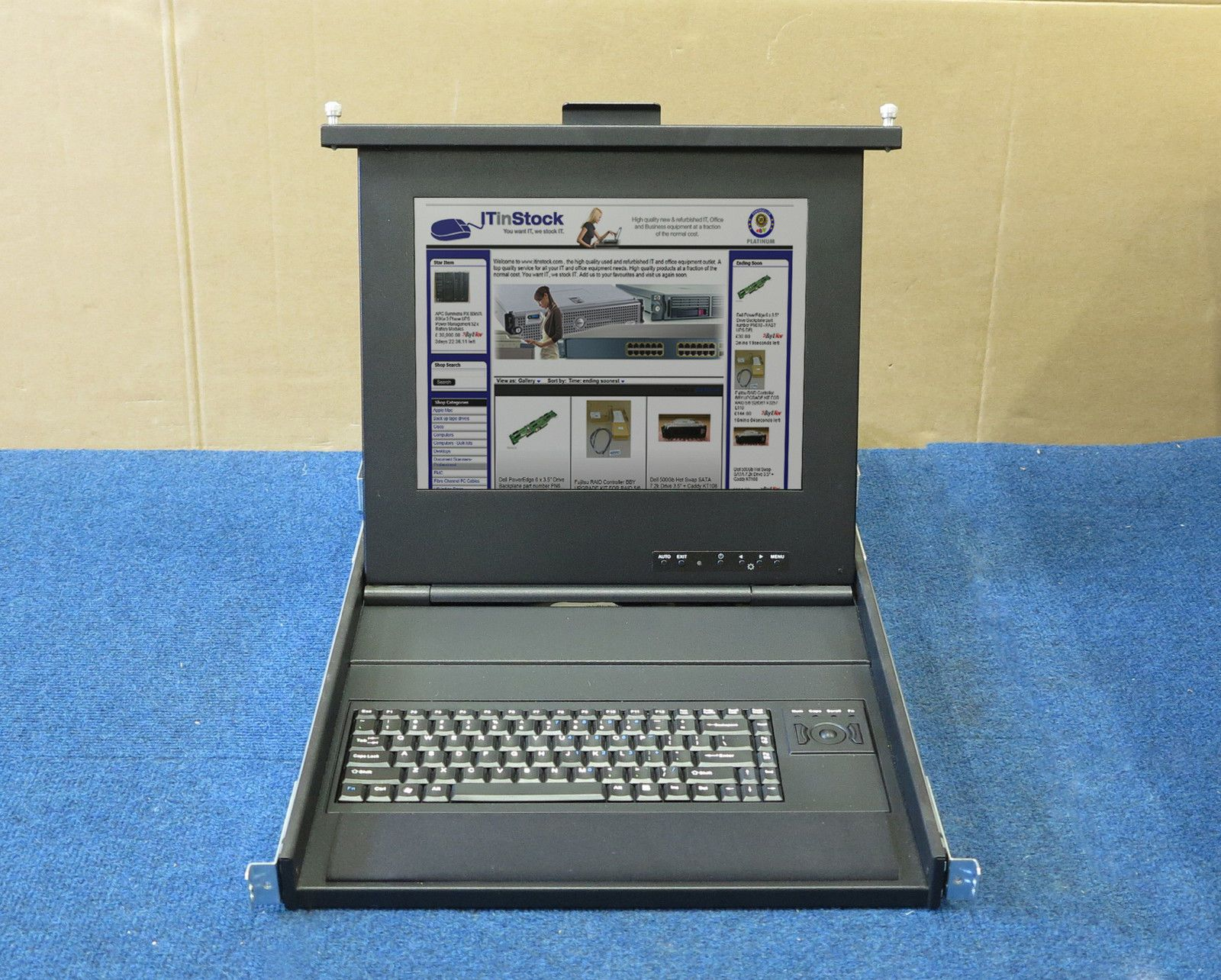 Emc 15 Rackmount Lcd Tft Screen Monitor And Keyboard With