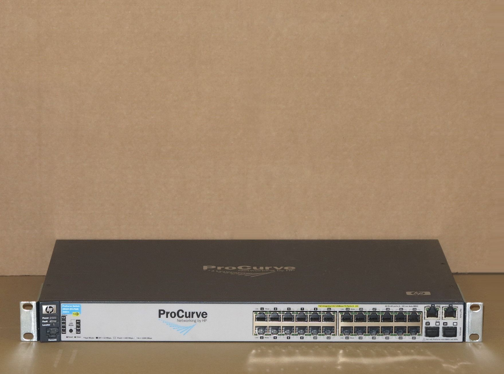 Hp Procurve E2610 24 Pwr 24 Port Gigabit Poe Ethernet