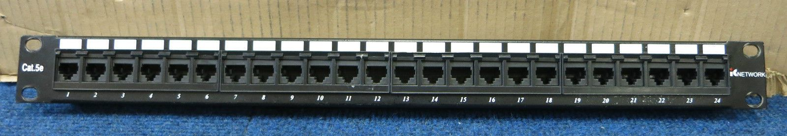 T568b Wiring Diagram Patch Panel : Ic networks port cat e rj ethernet network patch