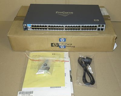 new hp procurve 2610 48 48 port 10 100 fast ethernet 2gig. Black Bedroom Furniture Sets. Home Design Ideas