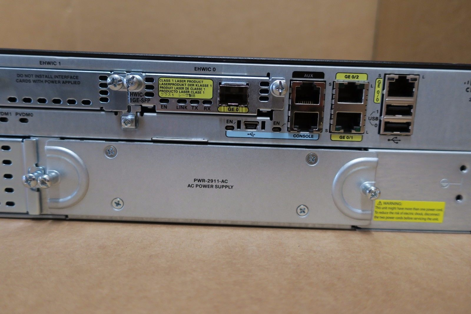 Cisco 2911 CISCO2911 K9 Integrated Services Router 2U ...