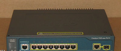 Catalyst 3560 WS-C3560-8PC-S 8-Port PoE Power Over Ethernet Switch