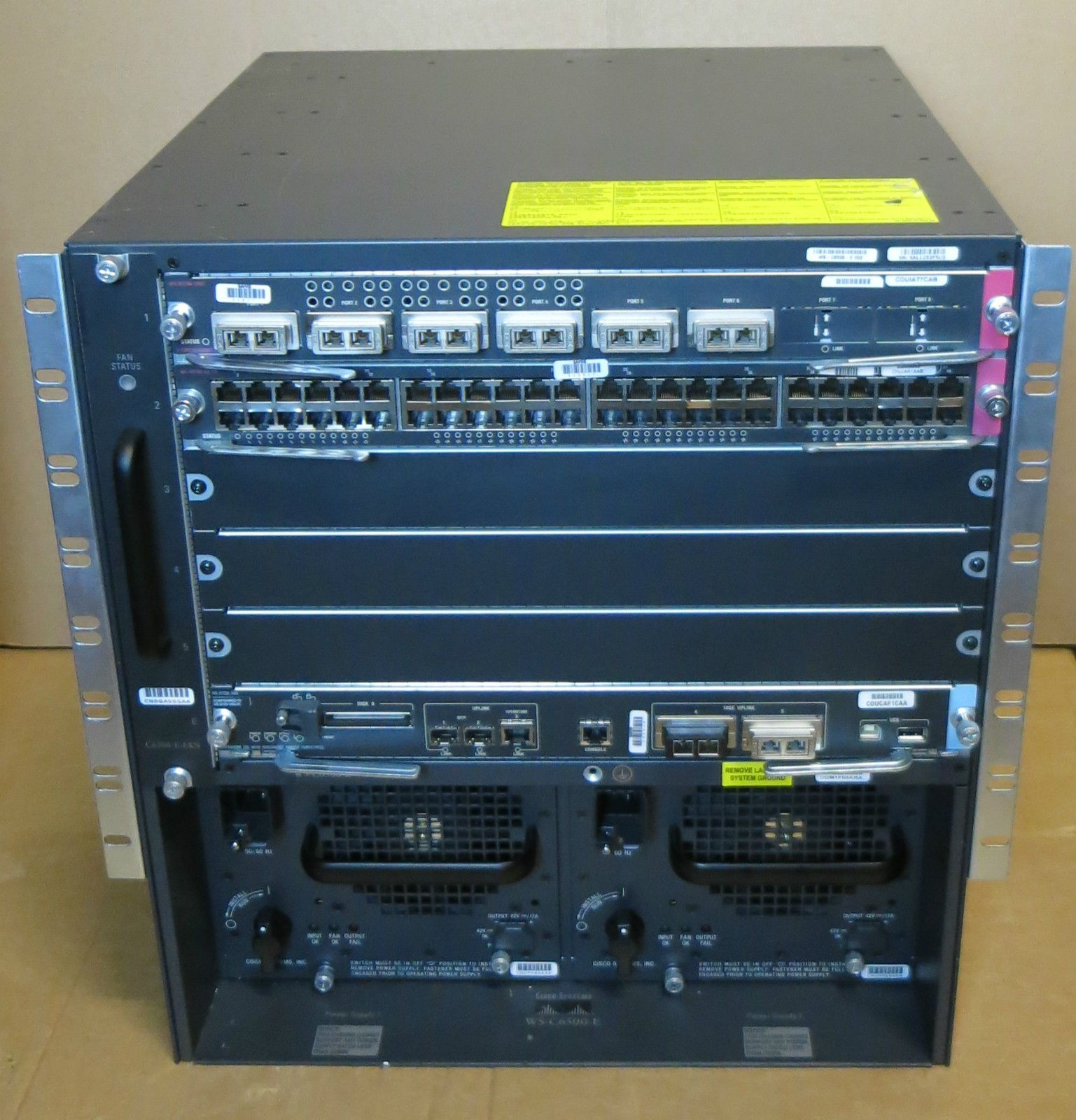 Cisco Catalyst 6 Bay 6500 Ws C6506 E Vs S720 10g 3c Pfc3