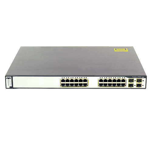 Gigabit Network Switch on Cisco Ws C3750g 24t S 3750 24 Port Stackable Gigabit Network Switch