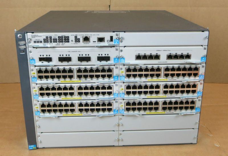 Hp Aruba 5412r Zl2 12 Slot Switch Chassis Poe Network