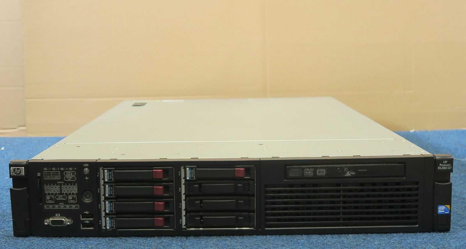 hp proliant dl380 g7 2 x six core xeon x5650 48gb 2u rack mount server. Black Bedroom Furniture Sets. Home Design Ideas
