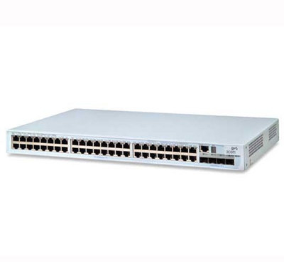 Port Network Switch on New 3com 4500 Pwr 3cr17572 91 Poe 48 Port   2 Ethernet Network Switch