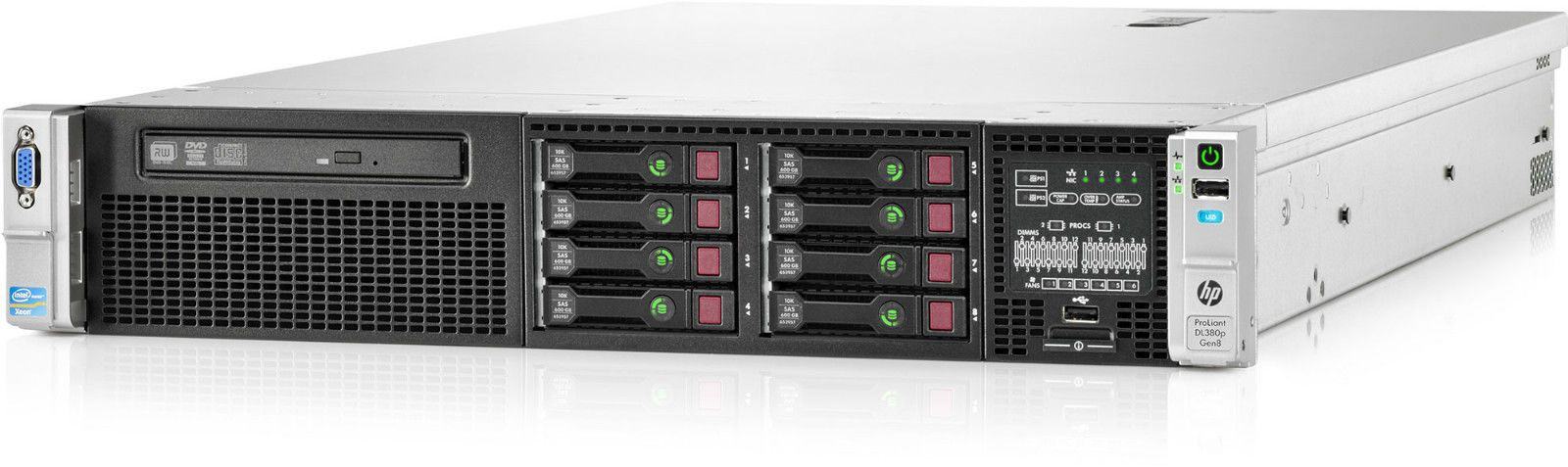 new hp proliant dl380p gen8 v2 2 x xeon e5 2670 2 6ghz 128gb 2u rack server. Black Bedroom Furniture Sets. Home Design Ideas