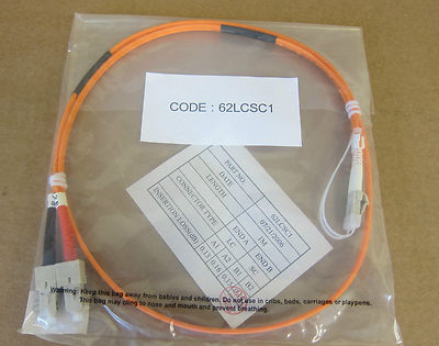 10 x 1M Fibre Channel SC-LC Duplex Patch Lead Orange Cable 62LCSC1