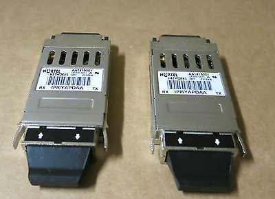 2 x Nortel Networks 1000 Base SX 850nm Laser Prod GBIC Transceiver - AA1419001