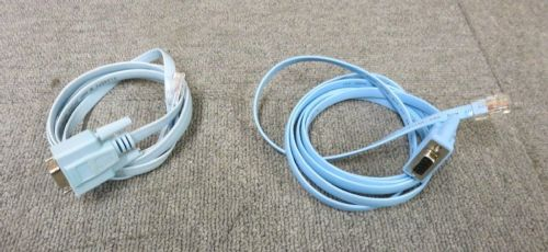 Cisco Console Blue Flat Cable 72-3383-01 RJ45M to DB9F 150CM NEW
