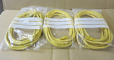 3 x AWM Enhanced Cat5e 350MHZ Yellow 5m Patch Cord RJ45 - 2835 E87647