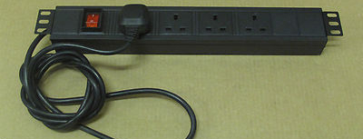 4 Plug Power Distribution Unit (PDU) 1U Rackmount 13A 250V 50/60Hz PDU4H