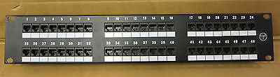 48-Port RJ45, CAT5, 2U, Rack Mount Network Patch Panel