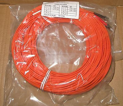 9 x 60M Fibre Channel ST-ST Patch Lead Cable 50/125 ST-ST/50/DX/60M Duplex FC
