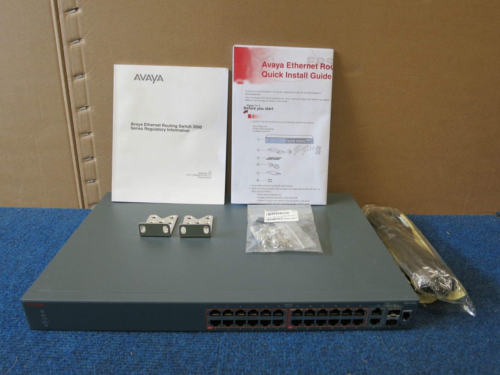 Avaya 3526t Pwr Poe 24 Port Ethernet Routing L3 Managed