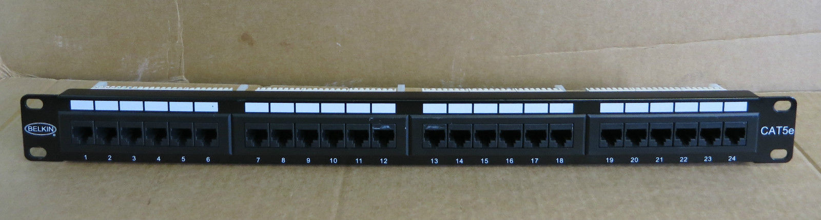 Groovy Belkin 24 Port Cat5E Rj45 Ethernet Network Patch Panel T568Ab Wiring Cloud Oideiuggs Outletorg