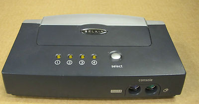 Belkin F1DB104P OmniView E Series 4-Port KVM Switch PS/2 Computer VGA