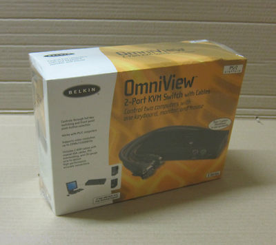 Belkin Omniview E-Series 2-Port PS/2 / KVM Switch F1DB102P-B