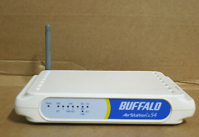 Buffalo Air Station G54 54Mbps/11Mbps Wireless Router Model: WMR-G54