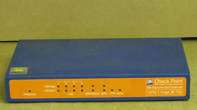 Checkpoint SBX-166LHGE-2 VPN-1 Edge X Firewall Security Appliance