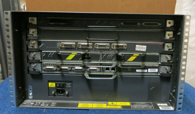 Cisco 7505 5-Card Slot 6U Rack Mount Network Ethernet Router / Switch