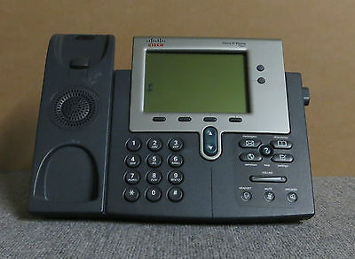 Cisco CP-7941G VoIP IP Business Desktop Display Telephone Phone 7941 + Stand