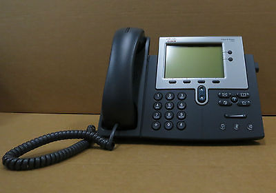 Cisco CP-7942G 7942G Desktop Business VoIP IP Display Phone Telephone With Stand