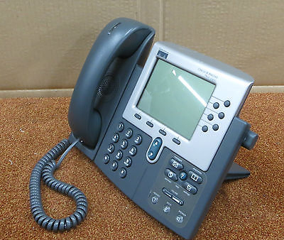 Cisco CP-7960G 7960 7900 Series IP VoIP Desk Phone Business Telephone With Stand