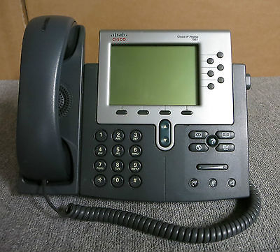 Cisco CP-7961G 7961G Desktop Business VoIP IP Display Phone Telephone With Stand