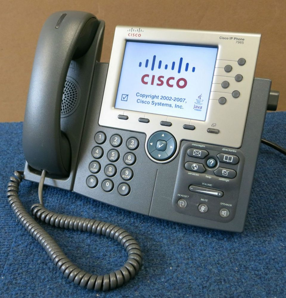 Cisco 7965 Unified IP Phone CP-7965G w// A//C Adapter