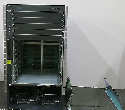 Cisco Catalyst WS-C6513 6513 Modular Switch Chassis 2 x WS-CAC-6000W and fans