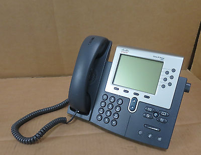 Cisco Unified IP Phone 7961 7961G CP-7961G V02 VoIP Telephone With Stand