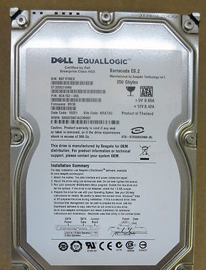 Dell EqualLogic 250GB 7.2K Seagate Barracuda ES.2 FW XR36 9CA152-056 ST3250310NS