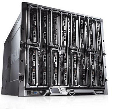 Dell PowerEdge M1000E Server Chassis+ 16 x M610 blades 32 x SIX-CORE XEON 3072GB