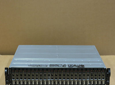 Dell PowerVault MD1120 SAS Storage Array 24x 600Gb 6Gbs Hard Drives 2Controllers