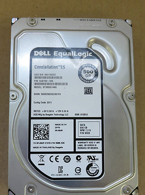 EqualLogic 500GB 7.2K Seagate Constellation ES PJ0MR 0PJ0MR FW KD03