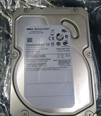 EqualLogic 500GB 7.2K Seagate Constellation ES ST3500514NS firmware KD03