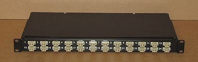 Fibre Channel 24-Port Rack Mount Black Patch Panel - Fibre Optic Network
