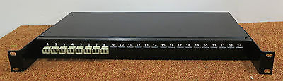 Fibre Channel 24-Port Rack Mount Black Patch Panel With 8 Connectors