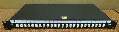 Fibre Channel 24-Port Rack Mount Patch Panel With 24 Connectors Black