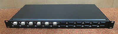 Fibre Channel 6 / 24 - Port Rack Mount Black Patch Panel - Fibre Optic Network
