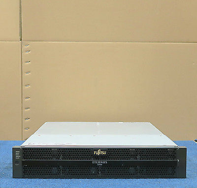 Fujitsu Eternus DX80 Base 4.8TB iSCSI SAS Hard Drive Array 4x 600GB 15k 8x 300GB
