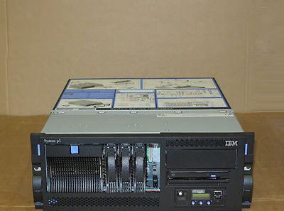 IBM System P5 520 4U Rackmount Server 9131-52A  2-Way 2.1GHz p5+ 16Gb 3x 73Gb