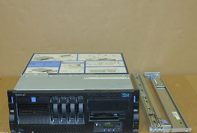 IBM System P5 520 4U Rackmount Server 9131-52A  2-Way 2.1GHz p5+ 4Gb 4x 73Gb
