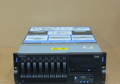IBM System P5 550 4U Rackmount Server 9133-52A 2x 4-Way 1.6GHz p5+ 64Gb 8x 146Gb
