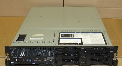 IBM X3650 2U Server 2x DUAL-Core XEON 2.66Ghz 4Gb RAM DVD Combo 2x 300Gb 4x 36Gb