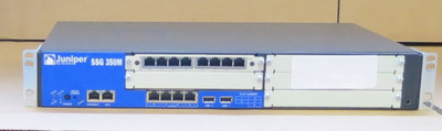 Juniper Networks SSG-350M-SH-E 512MB Secure Services Gateway + 8 pt JXU-8GE-TX-S